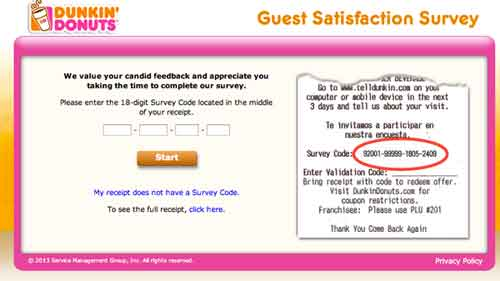 Telldunkin  DD Survey – Dunkin Donuts Survey to Redeem a Donut