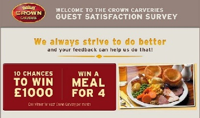 Crown Carveries Customer Survey