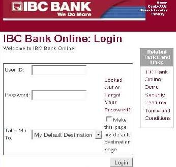 IBC Bank Online Banking Login