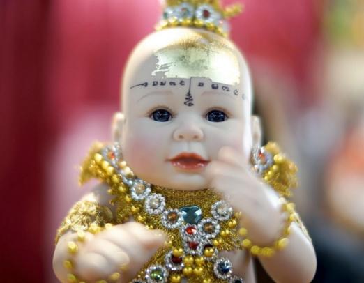 Devotees Buy Online 'Child Angel' Doll for good fortune