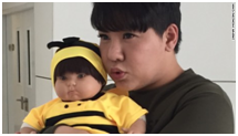 TV Star Bookko and His 'Child Angel' Doll