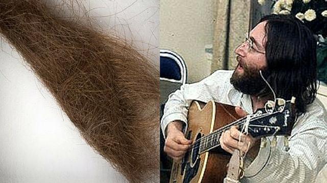 John Lennon hair color