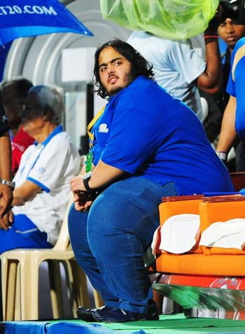 Anant Ambani photo at ipl 2015