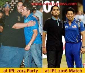Anant with Sachin before and after