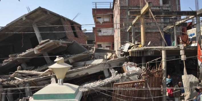 Destroyed Buildings photos after the Quake