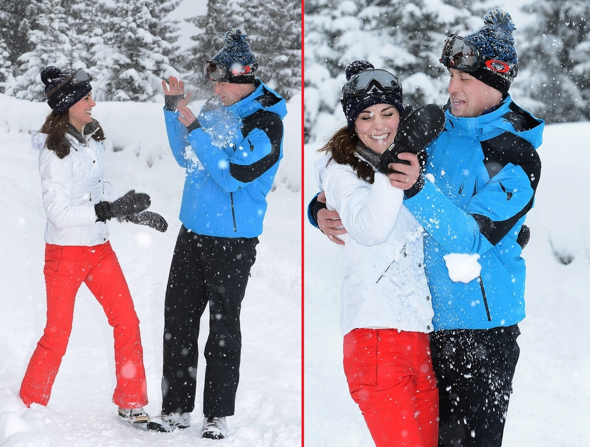 Prince William and Princess Kate skiing in the French Alps pictures latest