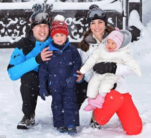 The Duke and Duchess of Cambridge with their children photos