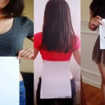 The A4 Waist Challenge: Chinese Girls Measuring Their Waists to A Piece Of Paper