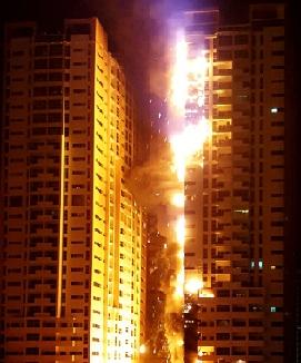 Photos of Ajman Emirate Fire Today UAE