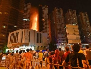 Fire Engulfs Residential Towers in UAE's Ajman