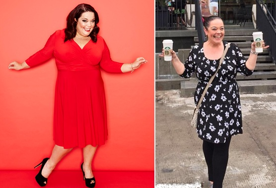 Lisa Riley Before and After Six Stone Weight Loss