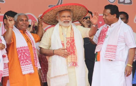 Narendra Modi Says I am not fighting Gogoi but Gareebi (poverty) in Assam