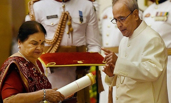 'Padma Vibhushan' Award Received by Kokilaben, Wife of Dhirubhai: Ambani Family at Rashtrapati Bhavan