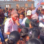 Prince Harry Playing Holi in Nepal: Photos of Hindu Festival of Colour, in Okhari