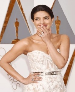 Priyanka Chopra's White Strapless Naked Dress