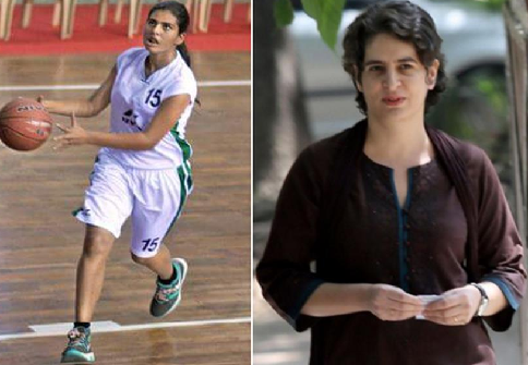 Priyanka Gandhi Daughter in Basketball