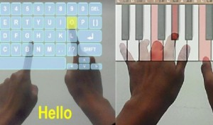 Virtual Keyboard for Typing Text and Play Piano