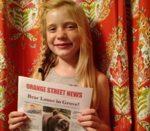 Nine-year-old US reporter