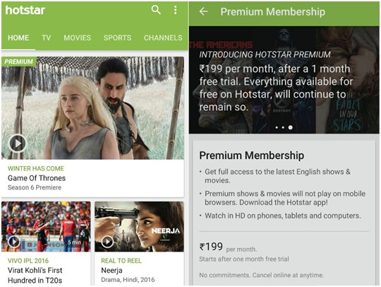 Hotstar App for Android