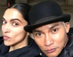 Deepika Padukone and Tony Jaa on the Set
