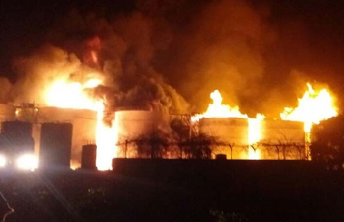 Fire at a Bio-Diesel Manufacturing Unit in Visakhapatnam