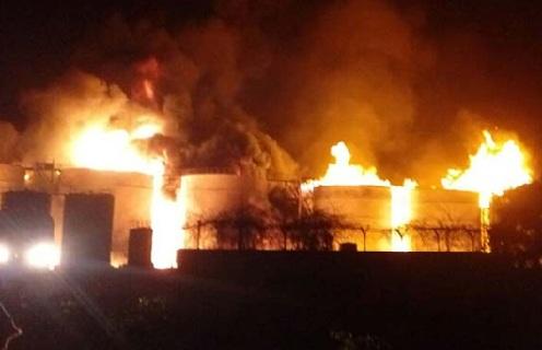 Fire at a Bio-Diesel Manufacturing Unit in Visakhapatnam