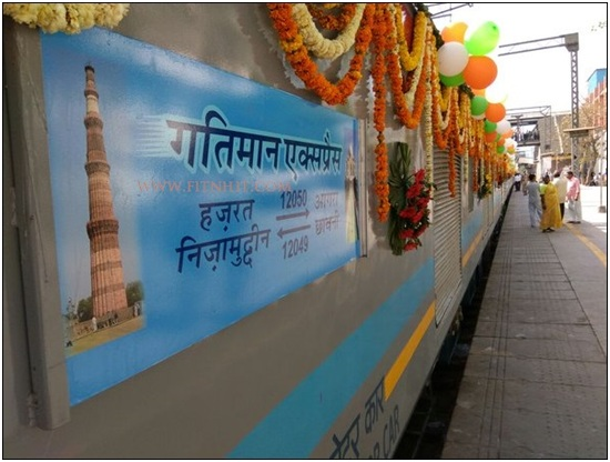 Hazrat Nizamuddin Station to Agra High Speed Train/ Distance by Train