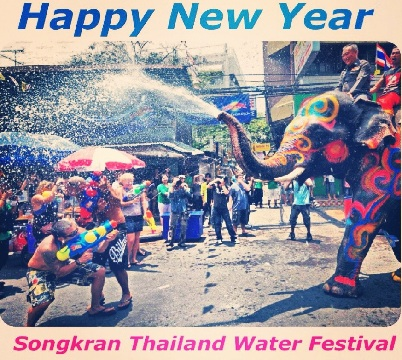 Happy Songkran Day Greeting