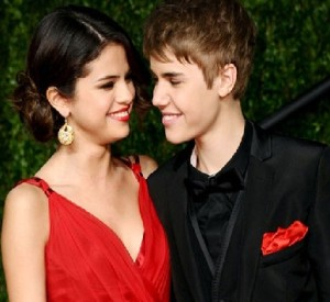 Justin was with Selena Gomez