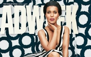 Kerry Washington's Photograph on Cover Page of AdWeek Magazine 2016