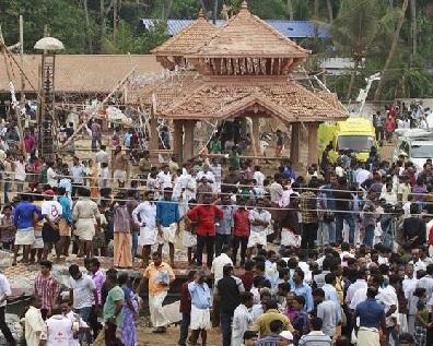 Puttingal Temple of Paravur, Kollam District in Kerala