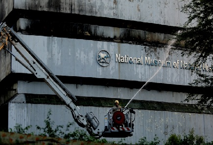 Fire Guts Delhi's Natural History Museum