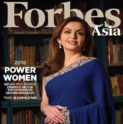 Nita Ambani Most Powerful Businesswoman in Asia in Forbes List