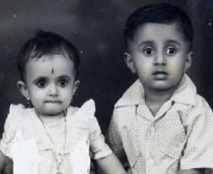 Shri Shri Ravi Shankar with Sister (Left)