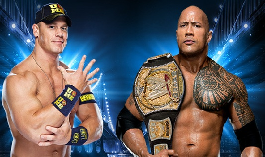 The rock and john cena wrestlemania