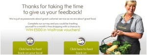 Waitrose-Experience.com Customer Survey