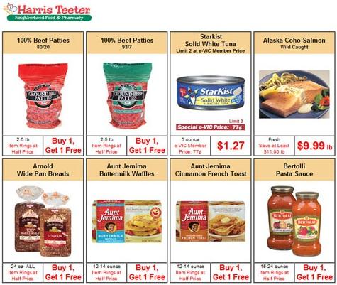 Harris Teeter Weekly AD Shopping List