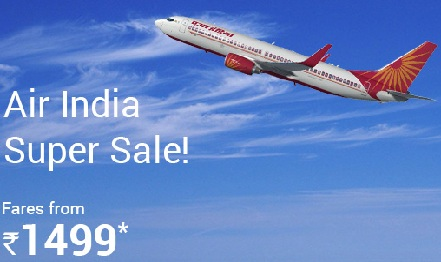 Air India Booking Online Domestic Flight in Super Sale 2016