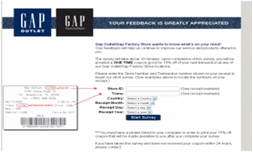 Gap Factory Customer Feedback Survey