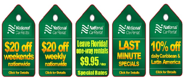 National Car Rental Coupons Free Day Booking/ Reservation