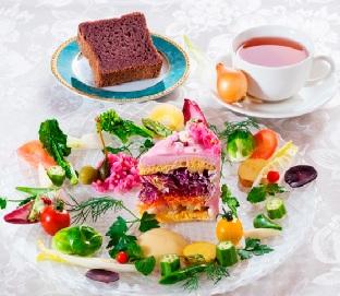 Japanese Salad Cakes by Misuki Moriyasu