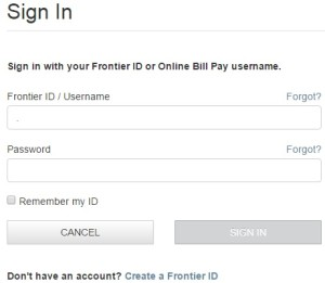 Frontier Bill Pay Login