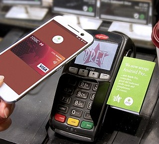Contactless Payment, Android Pay, in the UK