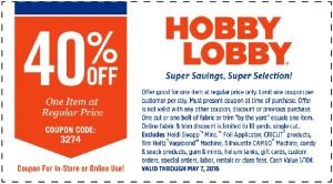 Hobby Lobby Coupon Code
