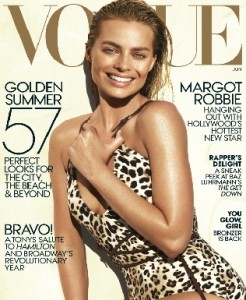 Margot Robbie's Summer Tan Look on Vogue's Cover Page