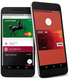 Set Up Android Pay UK: Visa Credit or Debit Cards and MasterCards of 8 Bank's Supports