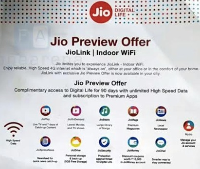 Reliance JioLink Fixed 4G Hotspot Device