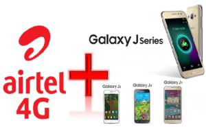 Airtel 4G Offer on Samsung J Series Smartphones