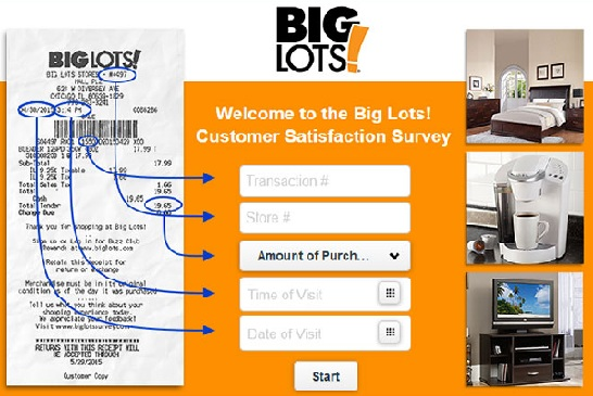 Big Lots Survey Sweepstakes/ Customer Service