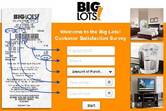Big Lots Survey Sweepstakes/ Customer Service